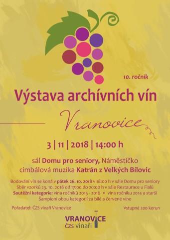 Vystava Archivnich Vin Vranovice 20181