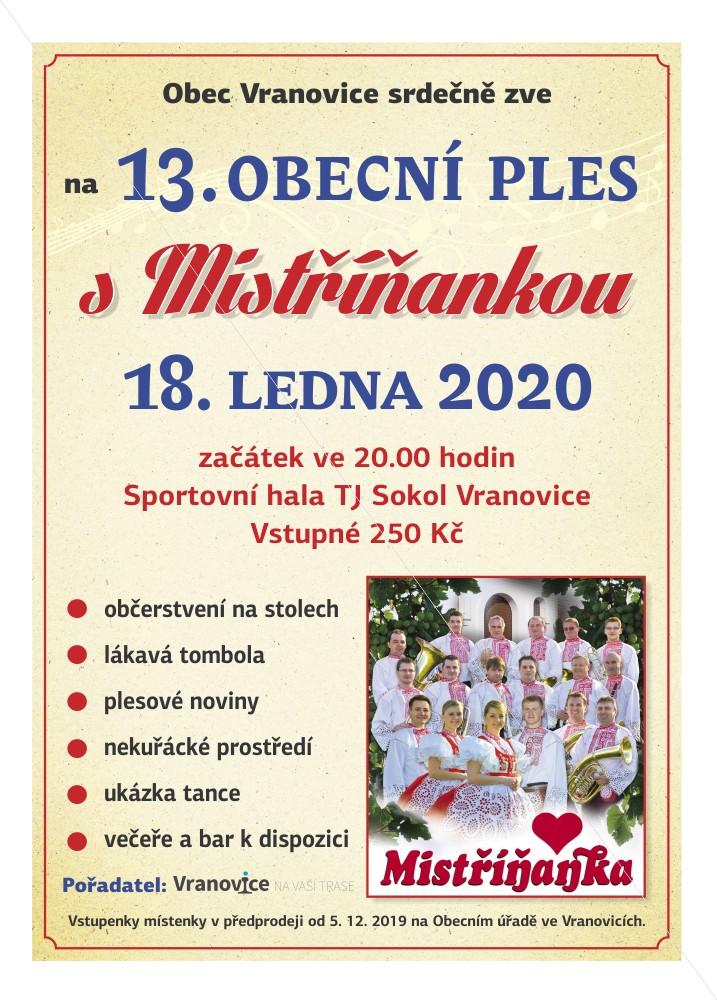 VranovicePles2020sMistrinankou Plakat
