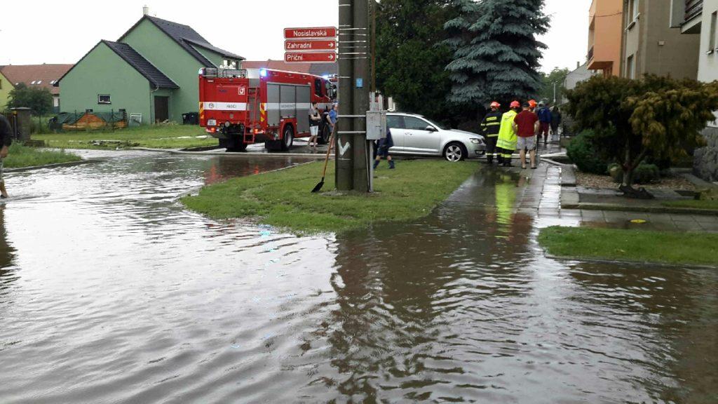 Vranovice záplavy foto: HZS JMK