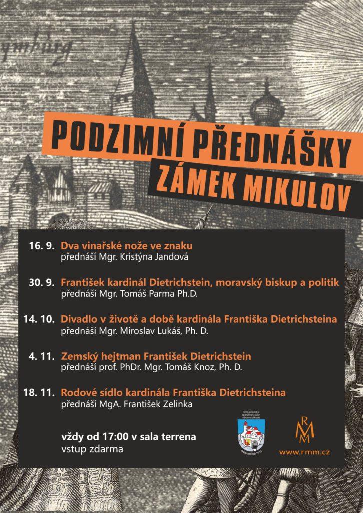 Podzimní přednášky zámek Mikulov