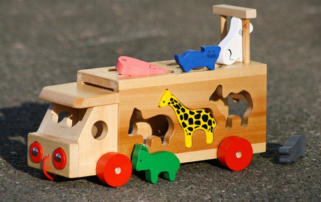 Skládací kamion se zvířaty