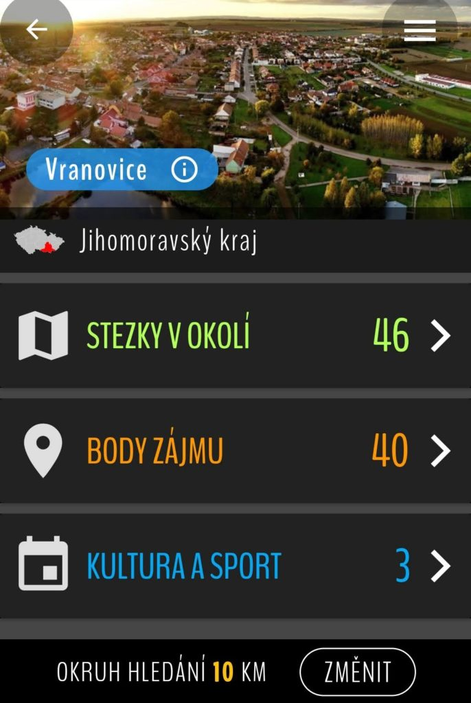 Aplikace na kole a pěšky