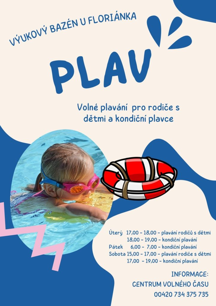 White and Blue Playful Organic Pool Birthday Party Flyer 1